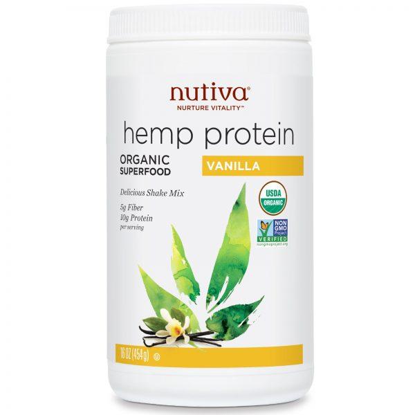 חלבון פרוטאין המפ וניל נוטיבה 454 גרם Nutiva