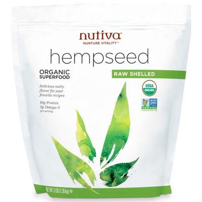 זרעי המפ קלופים נוטיבה 1.36 קילוגרם Nutiva