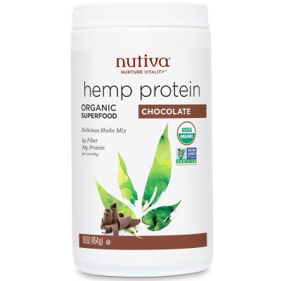 חלבון פרוטאין המפ שוקולד נוטיבה 454 גרם Nutiva