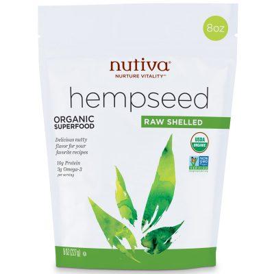 זרעי המפ קלופים נוטיבה 227 גרם Nutiva